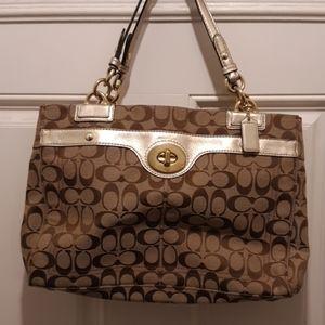 Excellent condition gold coach bag